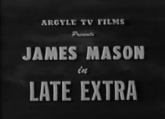 Late Extra 1935 DVD - James Mason / Virginia Cherrill